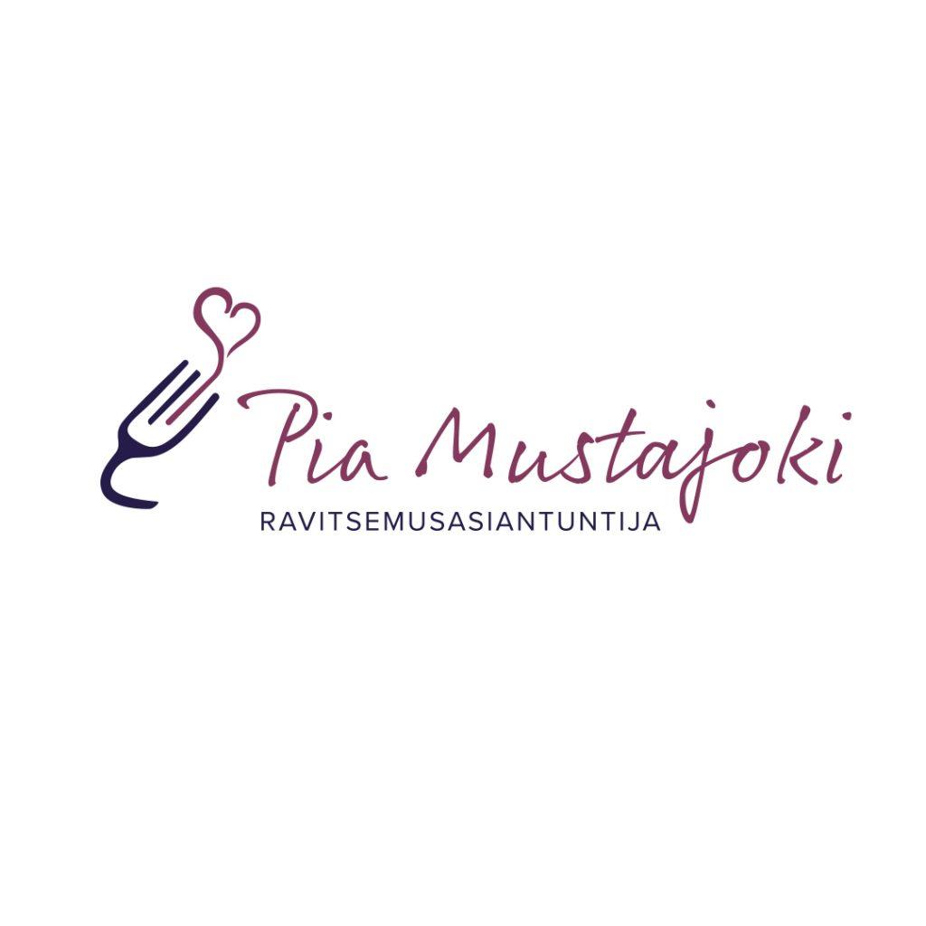 Logon suunnittelu Ravitsemusasiantuntija Pia Mustajoelle.