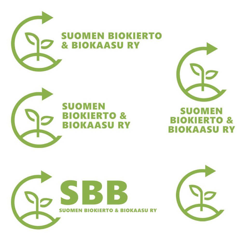 Suomen Biokierto ja Biokaasu ry:n logon suunnittelu
